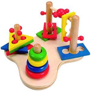 drevená didatická hračka pre deti