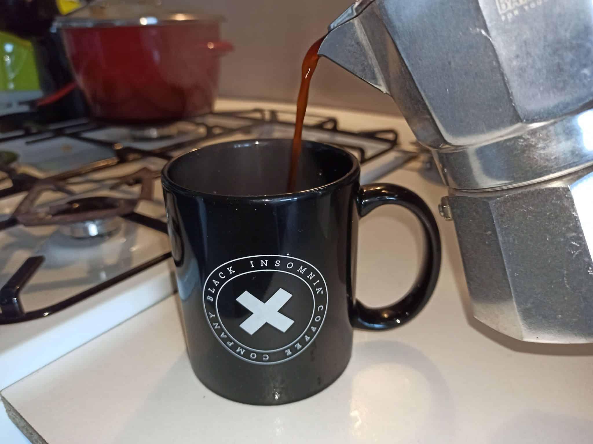 Príprava Black Insomnia Coffee krok - 2
