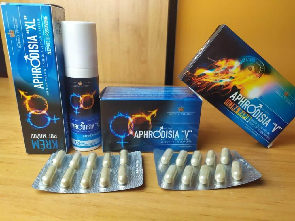 Tabletky a krém na erekciu Aphrodisia